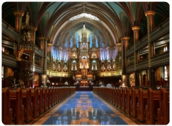 View interior of the Notre-Dame Basilica, Montreal